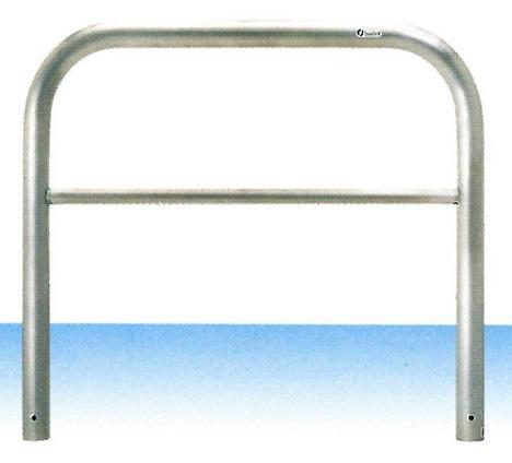 車止め サンキン メドーマルク ゲートタイプ ガードパイプ 横桟付 ステンレス製 固定式 φ60.5×W1000×H650mm S6B-10(大型商品)