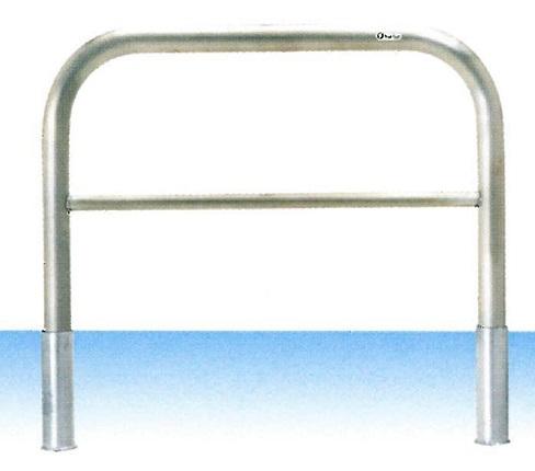 車止め サンキン メドーマルク ゲートタイプ ガードパイプ 横桟付 ステンレス製 差込式 φ60.5×W1000×H650mm S6B-10S(大型商品)