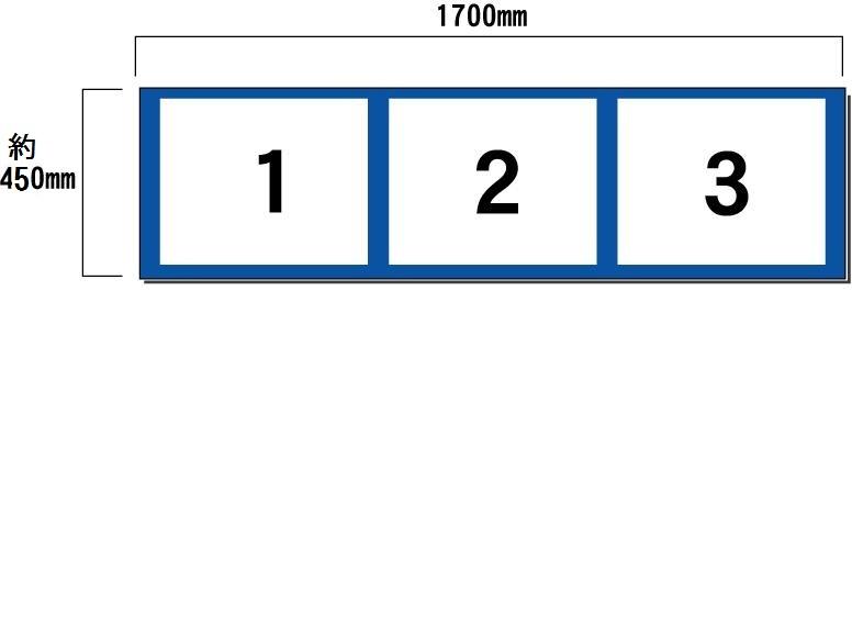 壁面用 3点タイプ(ヨコ) 現場表示用法令看板 空欄記入あり【大型商品・個人宅配送不可】