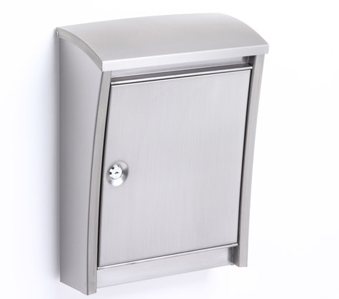 スタイリッシュポスト 鍵付 ステンレス【送料無料 代引・携帯払除く】W310×H405×D150(最大部分)mm PE-5907