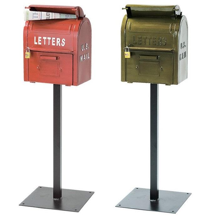 スタンド式ポスト U.S.メールボックス(送料無料 代引・携帯払除く) アメリカン ヴィンテージスタンドポスト 簡単設置