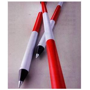 測量用 アルミ伸縮ポール 2m 赤白20cmピッチ  マイポール 10本セット