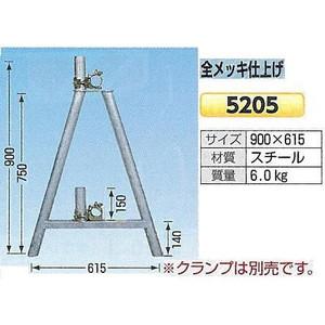 全メッキ仕上げ単管バリケード 鉄(スチール) ガードスタンド 2個1セット 5205