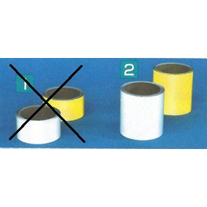 コンクリート用反射テープ 100mm×10m  白・黄色