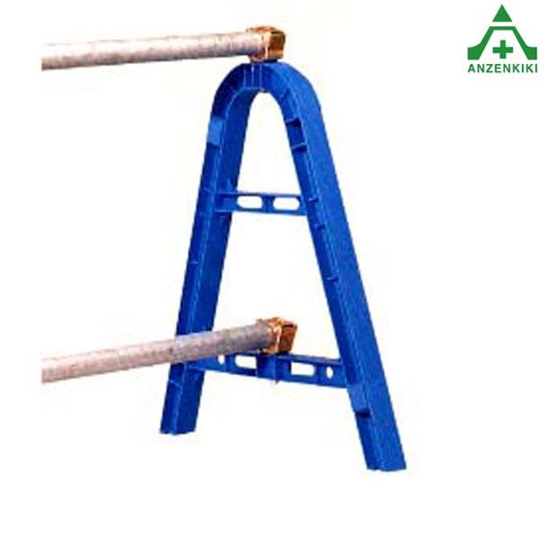 単管バリケード (樹脂製) ブルー 10台セット (メーカー直送/代引き決済不可) 樹脂製 単管 バリケード 工事現場 区画整理 立入禁止区域 仮囲い 道路工事 安全用品 A型バリケード