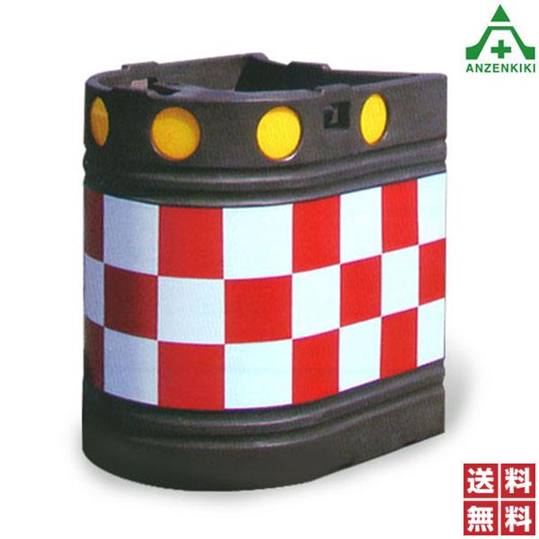 高輝度プリズム反射タイプ ロングクッションドラム CDL-B802R (メーカー直送/代引き決済不可) 衝突 衝撃 緩衝剤 道路 中央分離帯 セーフティドラム 保安用品 高速道路