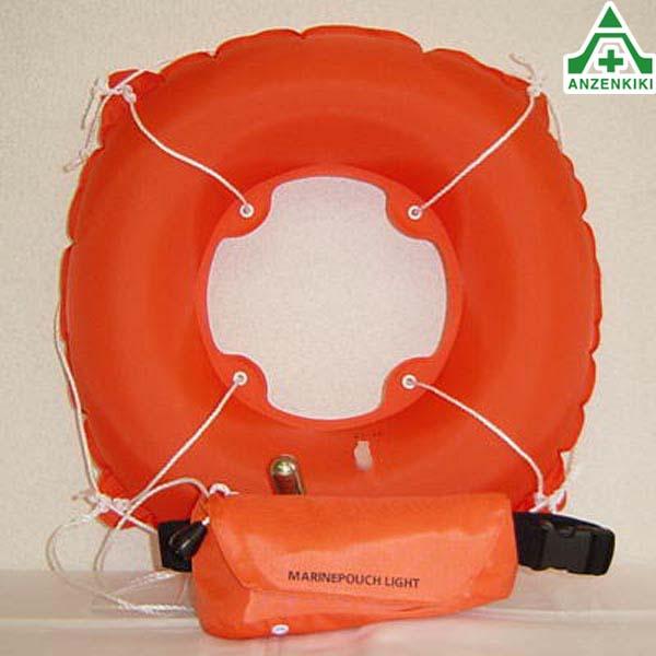 救命胴衣 自動膨張式救命具 【マリンポーチライト ヨコ型】  ■メーカー直送につき代引き不可■