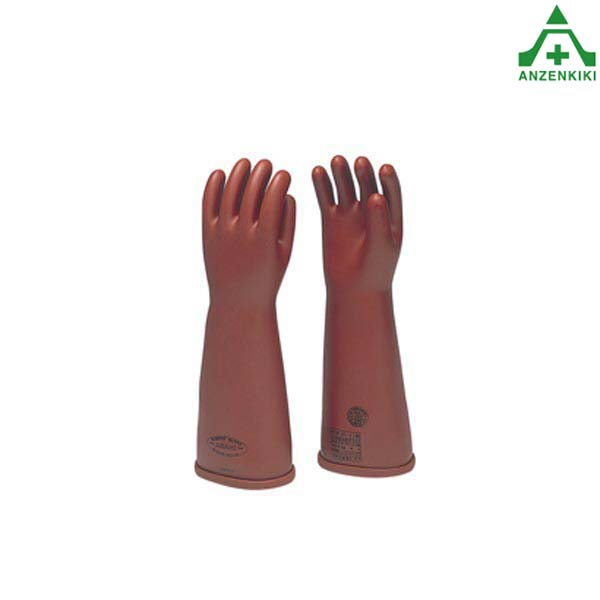アサヒ 高圧ゴム手袋 530 (普通型) 大サイズ 電気用ゴム手袋 電気工事 絶縁用保護具 電気絶縁手袋 活線作業 感電防止 電力 通信 電設