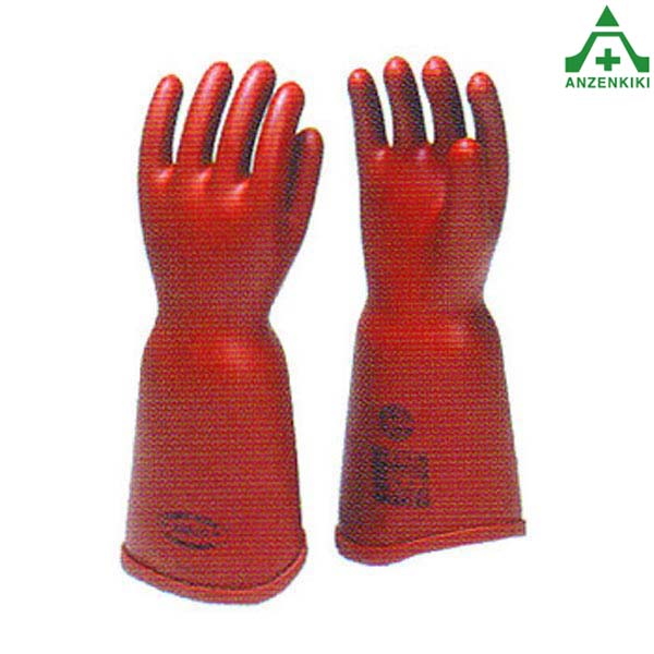 アサヒ 高圧ゴム手袋 550 (胴太型) LLサイズ 電気用ゴム手袋 電気工事 絶縁用保護具 電気絶縁手袋 活線作業 感電防止 電力 通信 電設