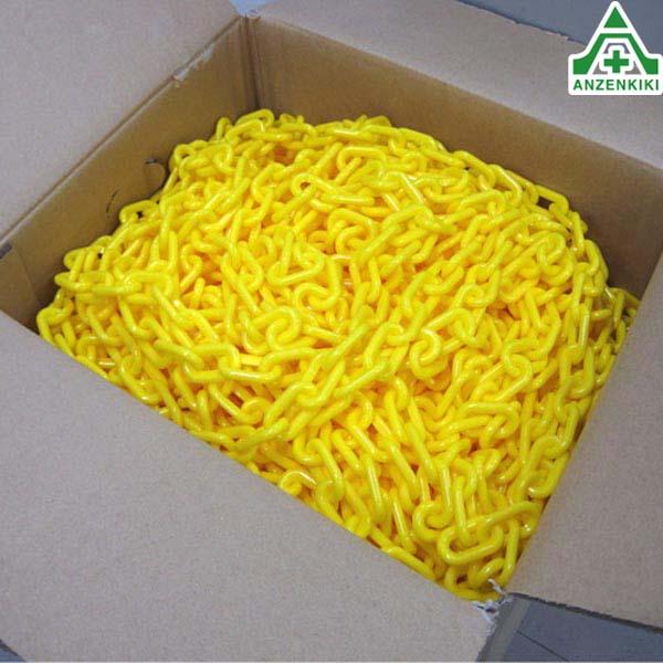 プラスチックチェーン 黄色 6mm×100m