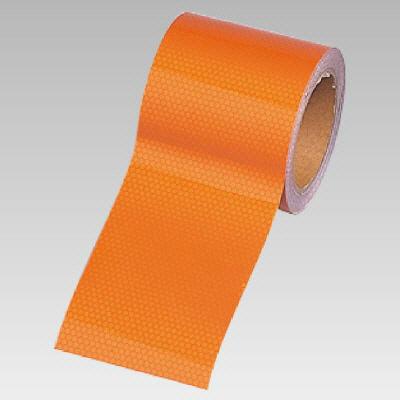 ユニット 374-81 高輝度テープ(オレンジ)90幅×10m