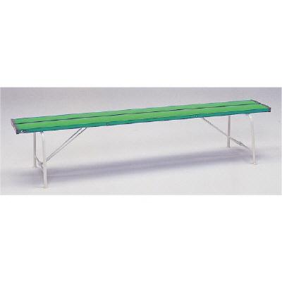 ユニット 376-81 ベンチ(背なし1800)緑色