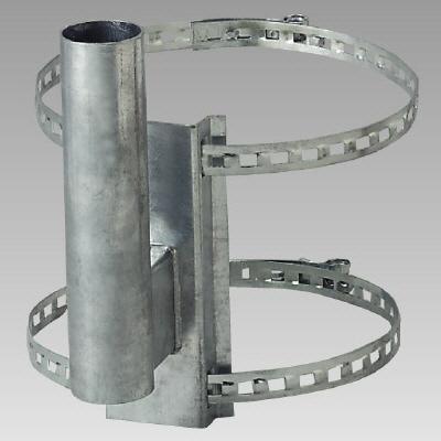 ユニット 384-94 カーブミラー取付用金具 電柱取付金具