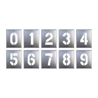ユニット 819-35A 吹付け用プレート 0~9(10枚1組)