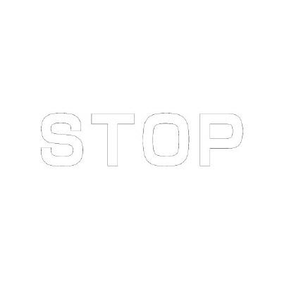 ユニット 835-041W 文字 STOP 500×500白
