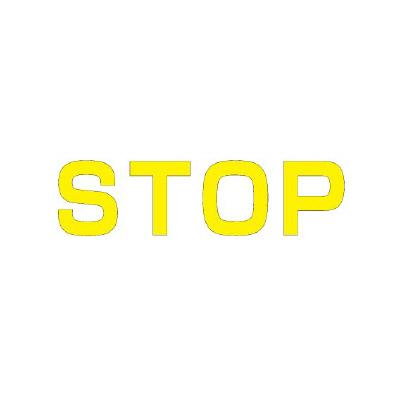 ユニット 835-041Y 文字 STOP 500×500黄