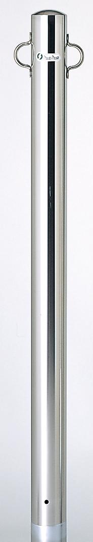 ユニット 835-316 駐車用区画支柱 76.3 ステンレス製