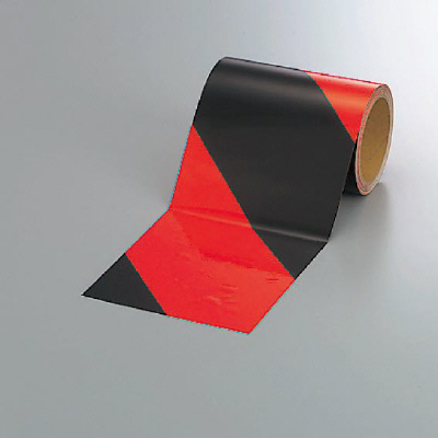 ユニット 864-65 蛍光反射テープ 橙/黒 橙部反射
