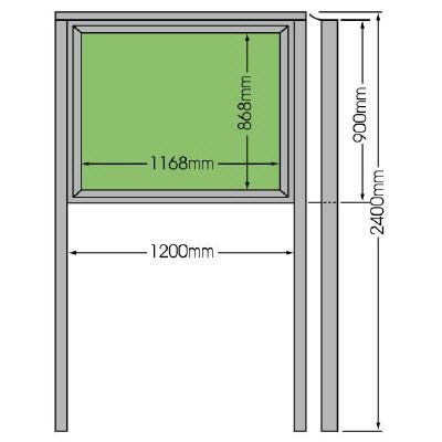 ユニット 867-01 掲示板(900×1200)