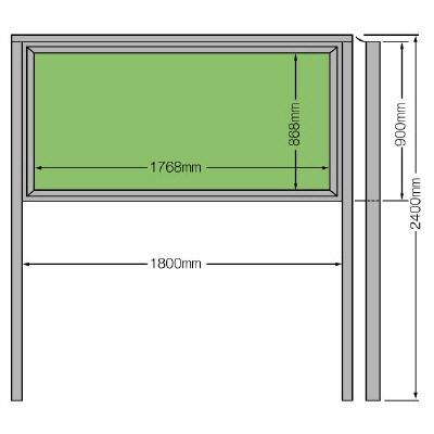ユニット 867-02 掲示板(900×1800)