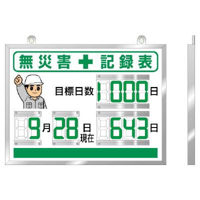 ユニット 867-18A デジタル無災害記録表