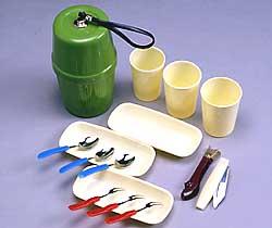 アウトドアにも 防災用食器 レジャーセット 避難用品 激安通販 3人用 防災用品 正規品送料無料