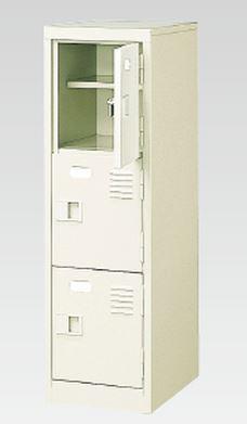 3人用シューズボックス(中棚付き)(鍵付き)(3段×1列) 【地域限定送料無料】 /MI-BST1-3HK(N)