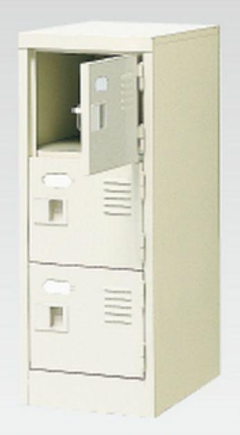 3人用シューズボックス(中棚なし)(鍵付き)(3段×1列) 【地域限定送料無料】 /MI-BST1-3WK(N)