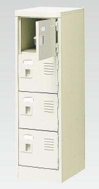 4人用シューズボックス(中棚なし)(鍵付き)(4段×1列) 【地域限定送料無料】 /MI-BST1-4WK(N)