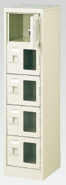 送料無料 新品 5人用シューズボックス 窓付き 中棚なし MI-BST1-5WMXK N 5段×1列 地域限定送料無料 激安通販専門店 鍵付き おしゃれ