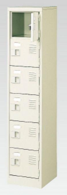 6人用シューズボックス(中棚なし)(鍵付き)(6段×1列) 【地域限定送料無料】 /MI-BST1-6WK(N)