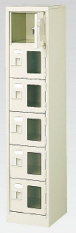 6人用シューズボックス(窓付き)(中棚なし)(鍵付き)(6段×1列) 【地域限定送料無料】 /MI-BST1-6WMXK(N)