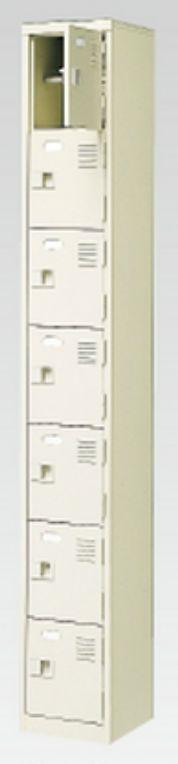 7人用シューズボックス(中棚付き)(鍵付き)(7段×1列) 【地域限定送料無料】 /MI-BST1-7HK(N)