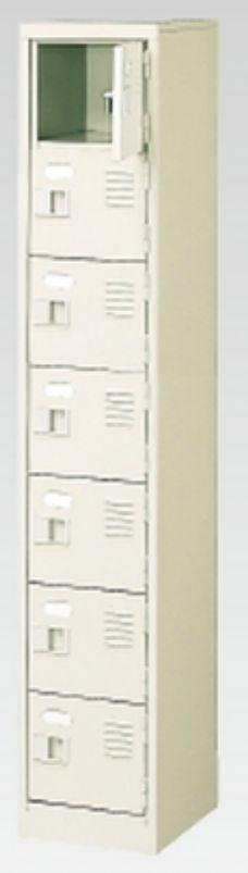 7人用シューズボックス(中棚なし)(鍵付き)(7段×1列) 【地域限定送料無料】 /MI-BST1-7WK(N)