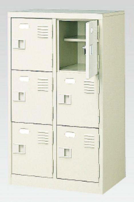 6人用シューズボックス(中棚付き)(鍵付き)(3段×2列) 【地域限定送料無料】 /MI-BST2-3HK(N)