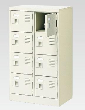 8人用シューズボックス(中棚なし)(鍵付き)(4段×2列) 【地域限定送料無料】 /MI-BST2-4WK(N)