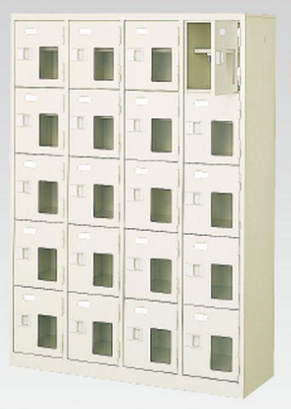 24人用シューズボックス(中棚付き)(鍵付き)(6段×4列) 【地域限定送料無料】 /MI-BST4-6HK(N)