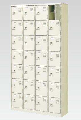 28人用シューズボックス(中棚付き)(鍵付き)(7段×4列) 【地域限定送料無料】 /MI-BST4-7HK(N)