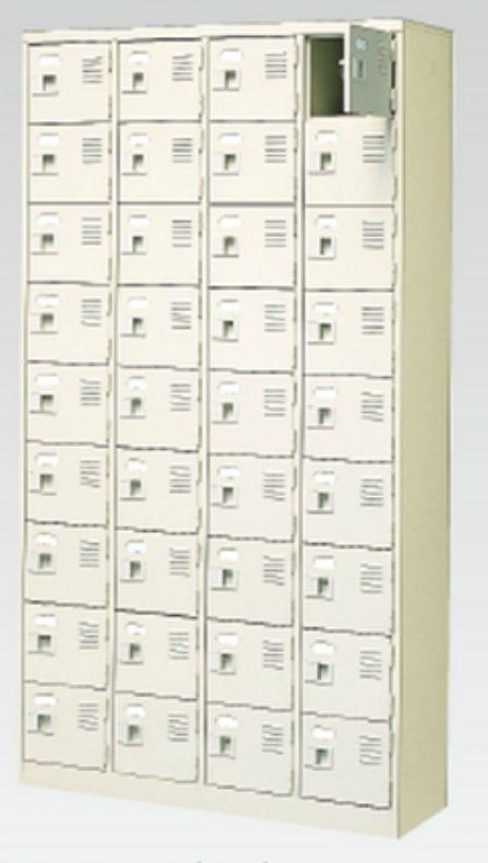 36人用シューズボックス(中棚なし)(鍵付き)(9段×4列) 【地域限定送料無料】 /MI-BST4-9WK(N)