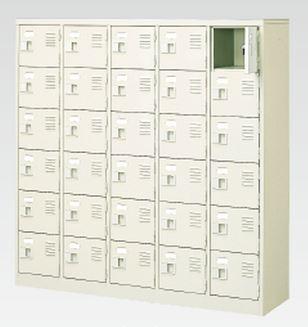 30人用シューズボックス(中棚なし)(鍵付き)(6段×5列) 【地域限定送料無料】 /MI-BST5-6WK(N)