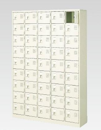 45人用シューズボックス(中棚なし)(鍵付き)(9段×5列) 【地域限定送料無料】 /MI-BST5-9WK(N)