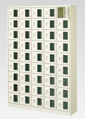45人用シューズボックス(窓付き)(中棚なし)(鍵付き)(9段×5列) 【地域限定送料無料】 /MI-BST5-9WMXK(N)