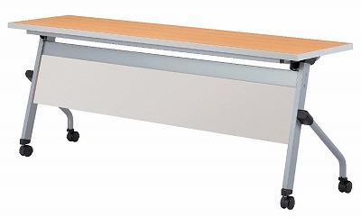 はね上げ式・平行スタッキングテーブル 幕板付 W1800×D450×H450 【地域限定送料無料】/NS-LCJ-1845P