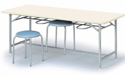 食堂用テーブル 4人用 シルバー塗装脚 W1500×D750×H700 【地域限定送料無料】/NS-YZ-1575C