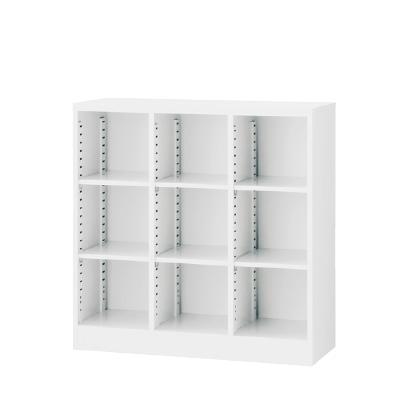 3列オープン書庫 可動棚 ホワイト 3列3段 W900×D350×H900mm 【地域限定送料無料】/SE-SBKW-9