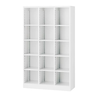 3列オープン書庫 可動棚 ホワイト 3列5段 W900×D350×H1500mm 【地域限定送料無料】/SE-SBKW-15