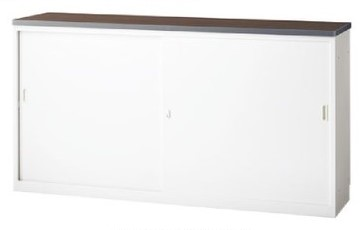 ハイカウンター ホワイトタイプ 引戸型 鍵付 W1800mm 【地域限定送料無料】/SE-NSH-18S□W