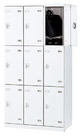 9人用ロッカー コインリターン錠 3列3段 【地域限定送料無料】/SE-SLB□-9-R
