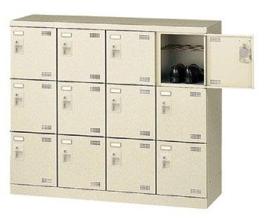 12人用シューズボックス ダイヤル錠 4列3段 【地域限定送料無料】/SE-SLB-M412-D2