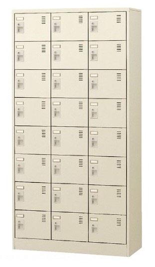 24人用シューズボックス 内筒交換錠 3列8段 窓無タイプ 【地域限定送料無料】/SE-SLC-24T-T2